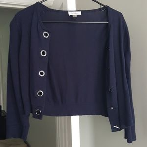 Calvin Klein Navy Blue Cropped Sweater Size Small